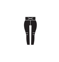 leggings black concept icon leggings flat vector image