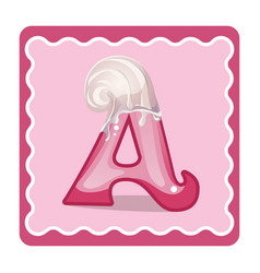 letter a candies vector image