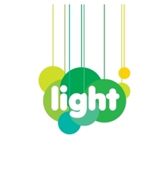 logo light vector image