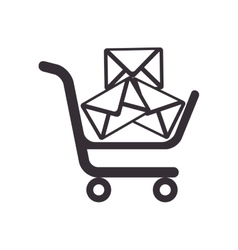 mail new cart icon vector image