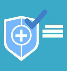 medicine aid symbol shield cross mark vector image