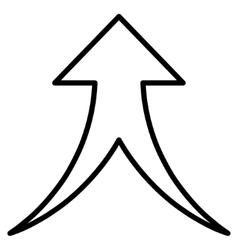 Merge Arrow Up Contour Icon vector