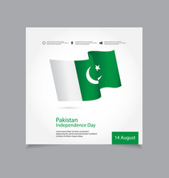 Pakistan independence day celebration template vector