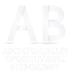 Paper font set vector