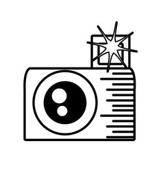 Photo camera picture flash outline vector