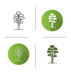 Pine tree icon vector