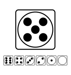 Playing dice flat icons set for playing vector