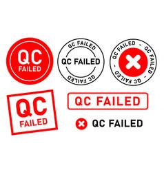 Qc failed fail quality control label tag seal vector