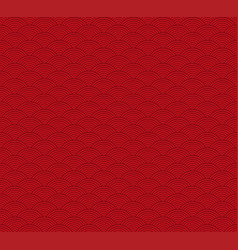 Red seigaiha luxurious japanese wave pattern vector