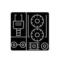 robot industrial kits icon vector image