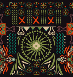 Seamless ethnic pattern colorful backdrop vector