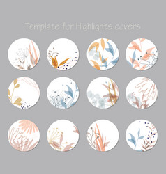set highlight covers abstract vector image