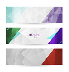 set horizontal bright banners with empty place vector image
