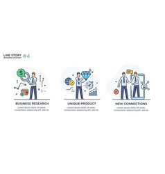 Set of concept with businessmen vector