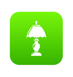 shade lamp icon green vector image