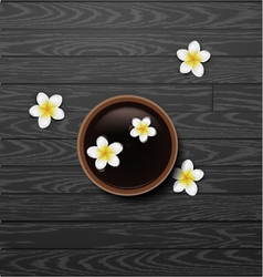 spa background with tropical flowers vector image
