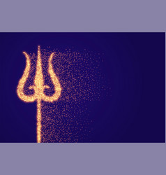 Sparkle trishul weapon lord shiva background vector