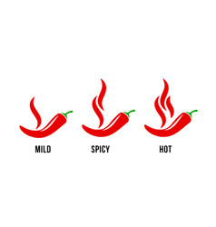Spicy chili hot pepper food spice level red vector