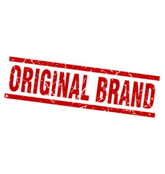square grunge red original brand stamp vector image