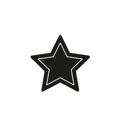 star symbol rating or award shape success icon vector image
