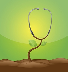 Stethoscope Tree Growth Medical Concept vector