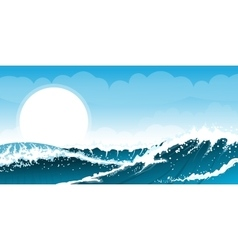 Stormy seascape background vector image