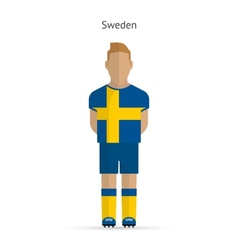 Sweden football player Soccer uniform vector