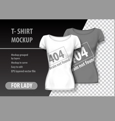 T-shirt mockup with error sign and funny phrase vector