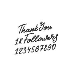 Thank you followers template for social media vector
