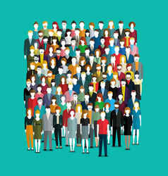 the crowd of abstract people vector image