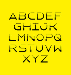 Thin simple modern font made of light regular and vector