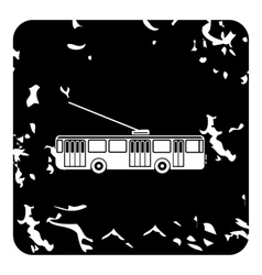 Trolleybus icon grunge style vector