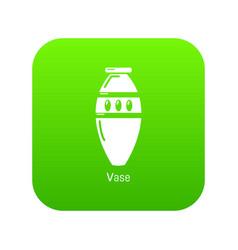vase icon green vector image