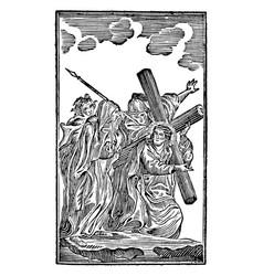 Vintage antique religious allegorical biblical vector