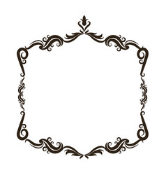 vintage baroque frame scroll floral ornament vector image