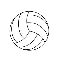 Voleyball ball isolated vector
