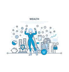 Wealth financial investments security deposits vector
