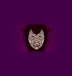 werewolf halloween mask party costume vector image
