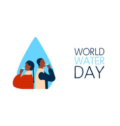world water day banner for safe drinking waters vector image