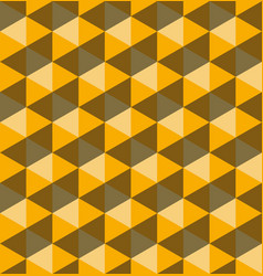 yellow hexagonal pyramids seamless pattern vector image