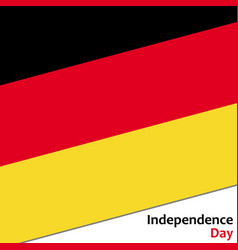 Deutschland independence day vector