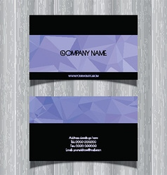 Geometric design business card vector image vector image