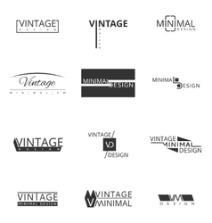 Minimal modern logo design for brand Badges and vector image vector image