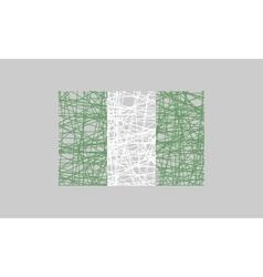 Nigeria flag design concept vector image vector image