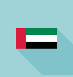 uae or united arab emirates flag vector image