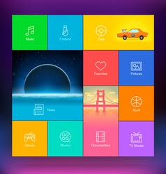 Flat Design User Interface Template vector image vector image