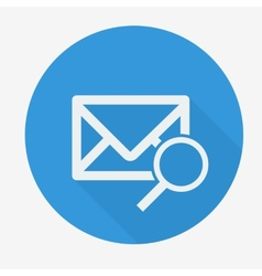 Mail icon envelope with magnifying glass Flat vector image vector image