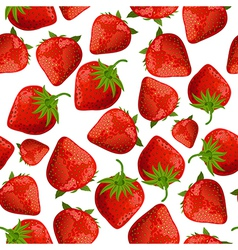 seamless texture of strawberries vector image vector image