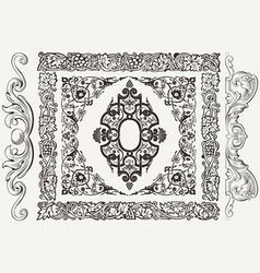Set Of Frames Borders And Elements vector image vector image