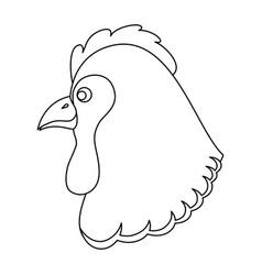 farm hen isolated icon vector image vector image